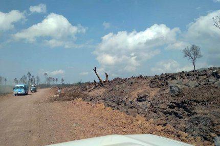 Okolice wulkanu Nyiragongo